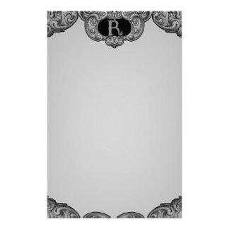 R - The Falck Alphabet (Silvery) Stationery Paper