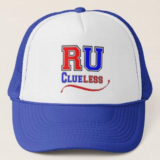 R U CLUELESS Funny Humor Joke Silly College Style Trucker Hat