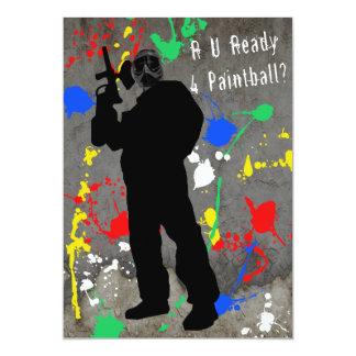 R U Ready 4 Paintball? Card