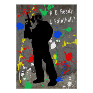 R U Ready 4 Paintball? Poster