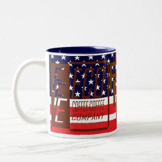 R. W. Blue FFE ECO COFFEE COFFEE COMPANY Coffee Mug