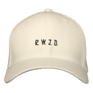 R. W. J. D. EMBROIDERED BASEBALL CAP