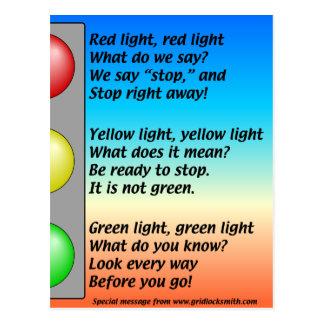 R-Y-G-lights Postcard