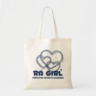 RA Girl Heart Design :: Rheumatoid Arthritis Budget Tote Bag