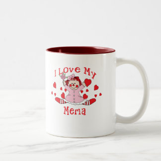 ra love memaI love My Mema Rag Doll & Hearts Two-Tone Mug