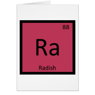 Ra - Radish Vegetable Chemistry Periodic Table Card