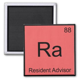 Ra - Resident Advisor Chemistry Element Symbol Tee Square Magnet