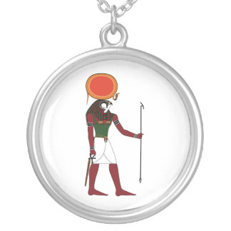 Ra the Ancient Egyptian God of the Sun and Kings Round Pendant Necklace