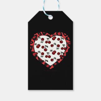 RAB cherries Leopard Print Heart Rockabilly Gift Tags