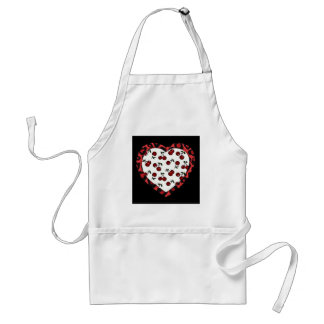 RAB cherries Leopard Print Heart Rockabilly Standard Apron