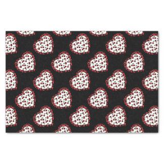 RAB cherries Leopard Print Heart Rockabilly Tissue Paper