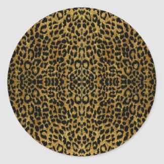 RAB Rockabilly Leopard Print Gifts Classic Round Sticker