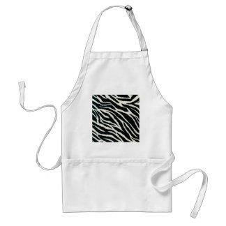 RAB Rockabilly Zebra Print Black & White Standard Apron