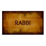 Rabbi Antique Brushed Wood Business Card