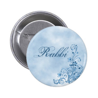 Rabbi Round Button Sky Blue Elegance