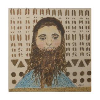 Rabbi Teacher Wood Print
