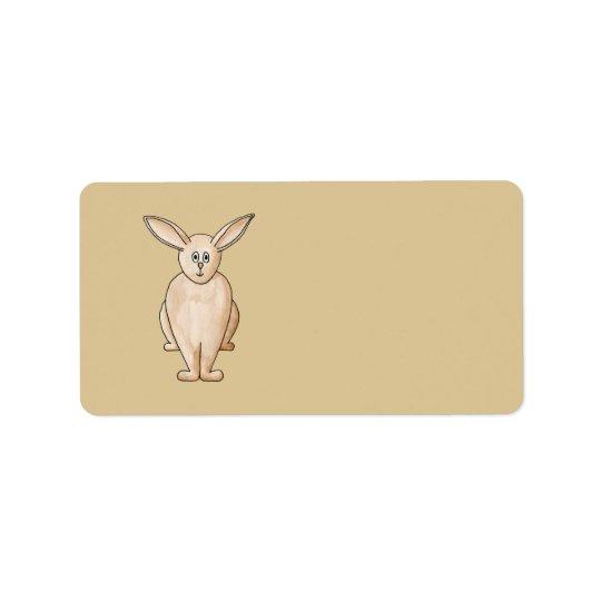 Rabbit. Address Label