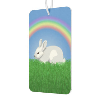 Rabbit and Rainbow Car Air Freshener