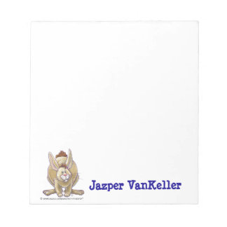 Rabbit Animal Parade Personalized Note Pad
