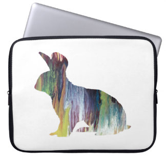 Rabbit art laptop sleeve