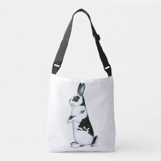 Rabbit:  Black and White Crossbody Bag