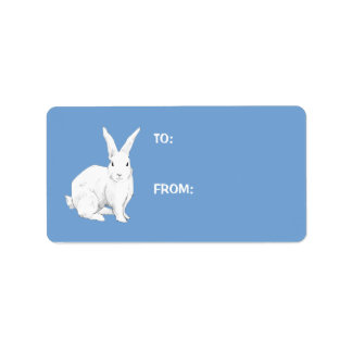Rabbit blue Gift Tag Label Address Label
