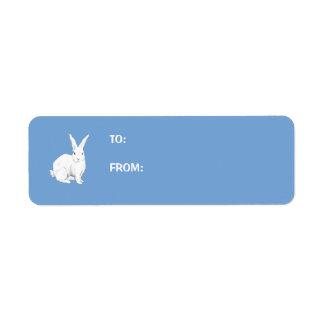Rabbit blue Gift Tag Label Return Address Label