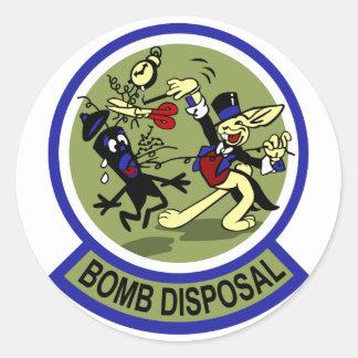 Rabbit Bomb Disposal Round Sticker