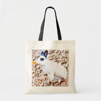 Rabbit Budget Tote Canvas Bags