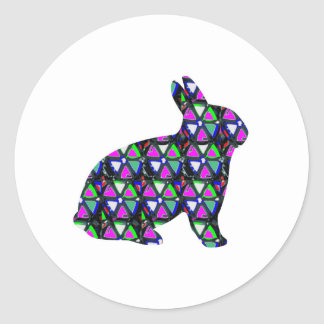 Rabbit,Bunny,animal,pet,butterfly,insect,sticker,t Round Sticker