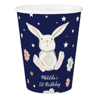 Rabbit Bunny Birthday Paper Cup Twinkle Star Party