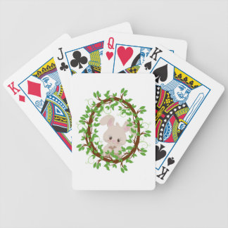 Rabbit , bunny, WOODLAND-CRITTERS Bicycle Playing Cards