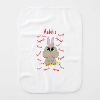 Rabbit Burp Cloth