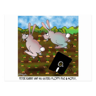 Rabbit Cartoon 8724 Postcard