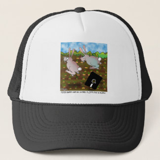Rabbit Cartoon 8724 Trucker Hat