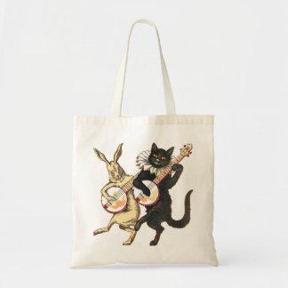 Rabbit & Cat Tote Bag