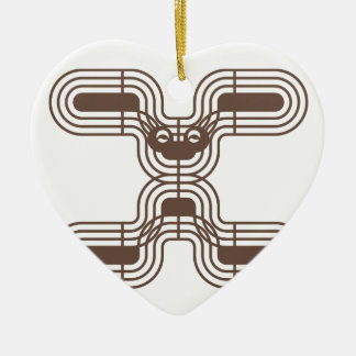 Rabbit Ceramic Heart Decoration