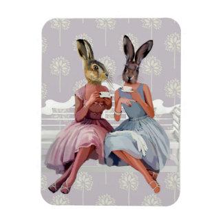 Rabbit Chat Rectangular Photo Magnet