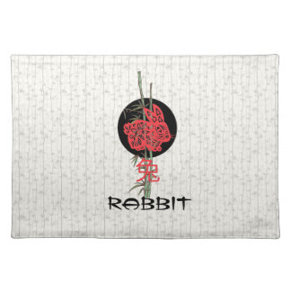 Rabbit (chinese zodiac) placemat