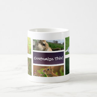 Rabbit Collage Photo Mug
