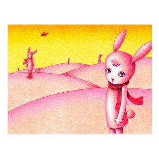Rabbit country postcard