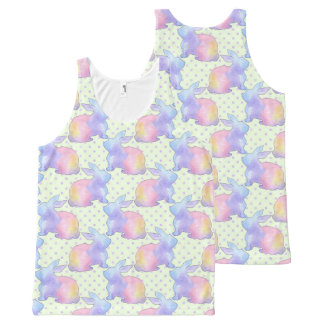 Rabbit Easter All-Over Print Singlet