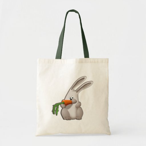 Rabbit Eating A Carrot Bags