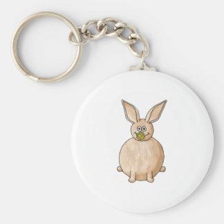 Rabbit Eating a Dandelion Keychain