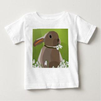 Rabbit eating snowdrops baby T-Shirt