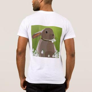 Rabbit eating snowdrops T-Shirt