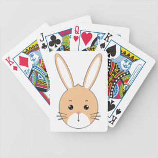Rabbit face bicycle playing cards