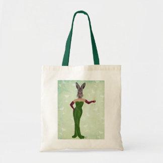 Rabbit Green Dress 2 Budget Tote Bag