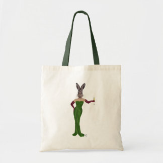 Rabbit Green Dress 3 Budget Tote Bag