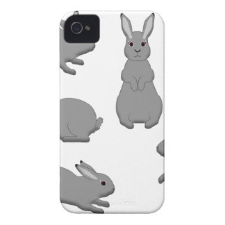 Rabbit grey iPhone 4 Case-Mate case